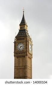 Big Ben, clocktower of the English parliament