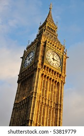 Big Ben - Clocktower at the Houses of Parliament in London, England