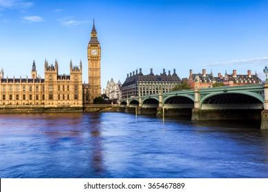 Big Ben at dawn in England, UK