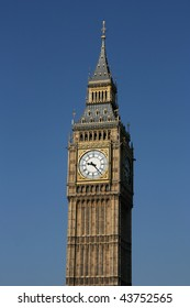 Big Ben - famous clock tower in City of Westminster, part of London.