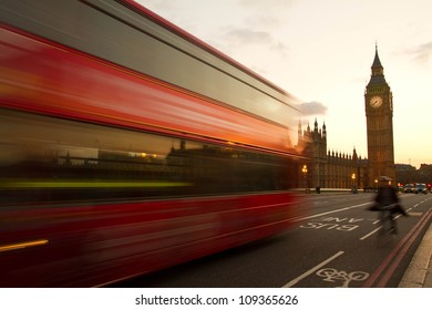 Big Ben and House of Parliament in evening time, London, UK.
