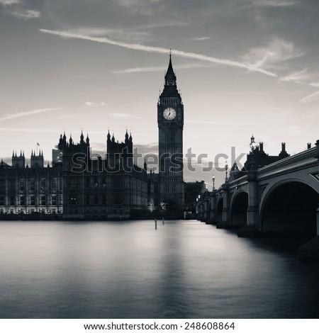 Big Ben House Parliament London Dusk Stock Photo Edit Now