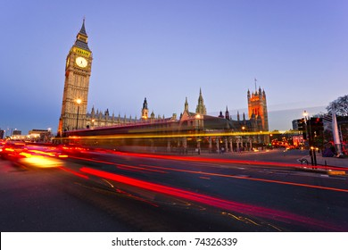 The Big Ben and the House of Parliament at night, London, UK.