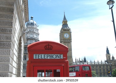 Big Ben, House of Parliaments and... the famous telephone