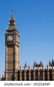 Big Ben with houses of parliament