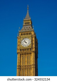 Big Ben at the Houses of Parliament aka Westminster Palace in London, UK