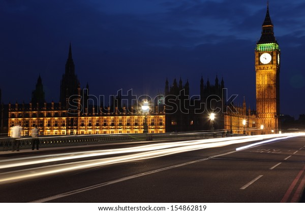 Big Ben and Houses of Parliament at evening