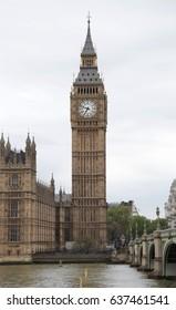 Big Ben and Houses of Parliament, London, UK, APRIL 30th 2017