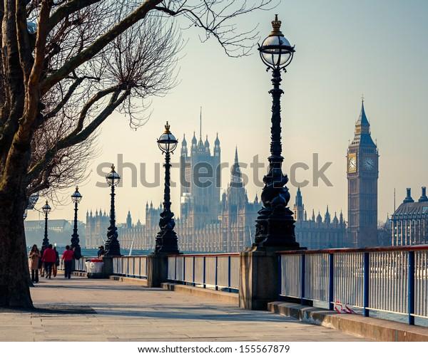 Big Ben und Houses of Parliament in London, Vereinigtes Königreich