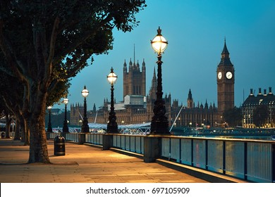 Big Ben and Houses of Parliament in night - London, United Kingdom
