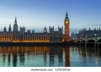 Big Ben and Houses of parliament, river thames