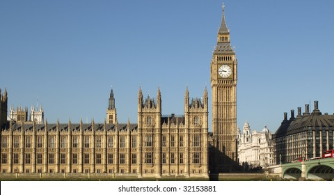 Big Ben at the Houses of Parliament, Westminster Palace, London, UK