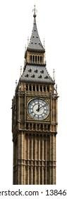 big ben isolated london white