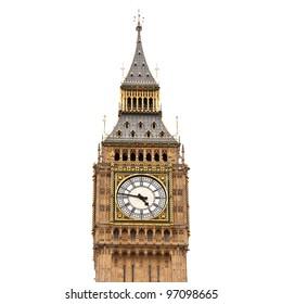 Big Ben, isolated on white