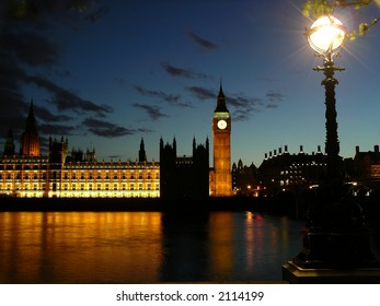 Big ben and lamp