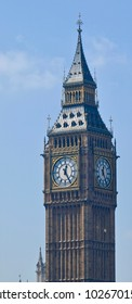 Big Ben in London with blue sky