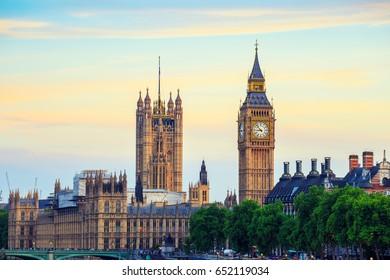 Big Ben in London, Uk.