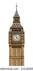 Big Ben in London, UK, isolated