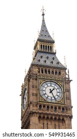 Big Ben in London, UK. Isolated