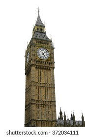 Big ben, London, UK isolation on white background. Clipping path included