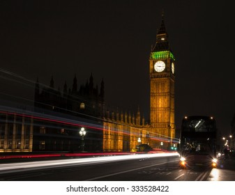 Big Ben at night, one of the most prominent symbols of both London and England