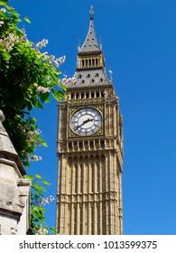 Big Ben on a clean blue sky