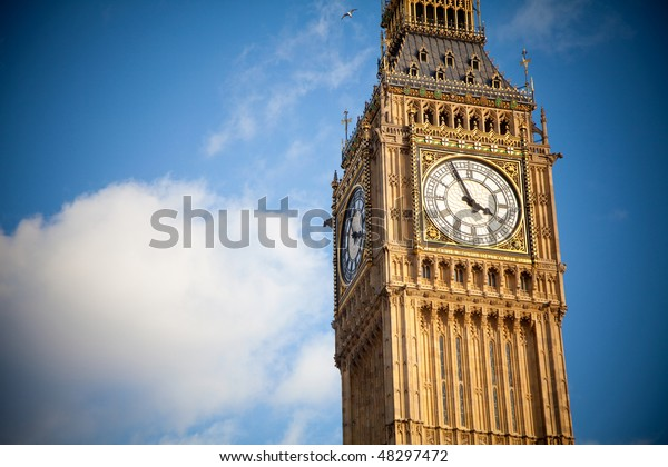 Big ben on a sunny day