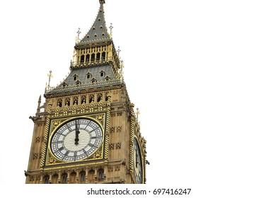 Big Ben on white background