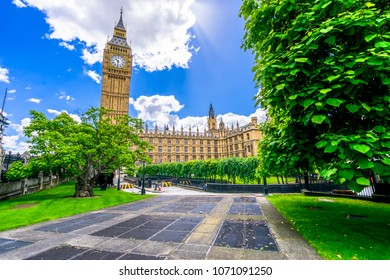 Big Ben and the Palace of Westminster square in London,England