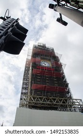 Big Ben Parliament  under repair taken in london u.k. last August 15 2019