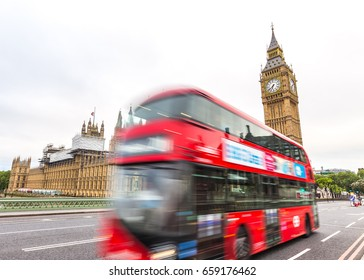 Big Ben and red bus in London