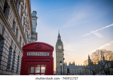 Big Ben with red telephone box in the foreground