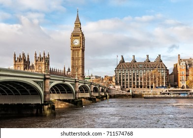 Big Ben, river Thames and Westminster bridge, London