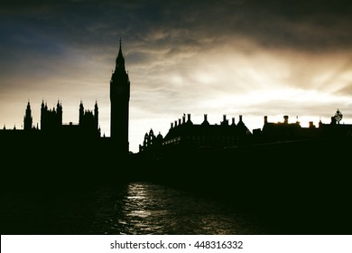 Big Ben at sunset , London