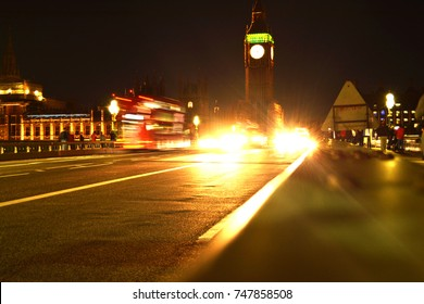 Big Ben Tower at night from the Westminster Bridge!