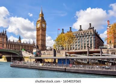 Big Ben tower and Portcullis House, London, United Kingdom