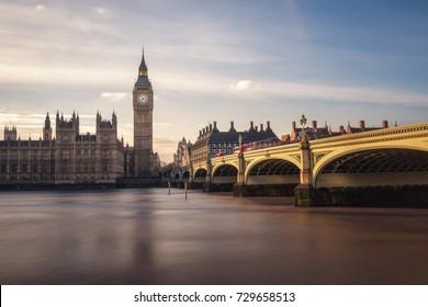 Big Ben and Westminster Bridge, London, England, UK