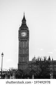 Big Ben in Westminster, London, Great Britain