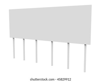 Big billboard isolated over a white background