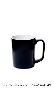 Big black mug on a white background