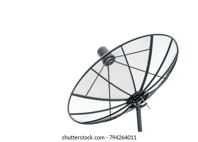 Big Black satellite isolated on Cloudless Sky.