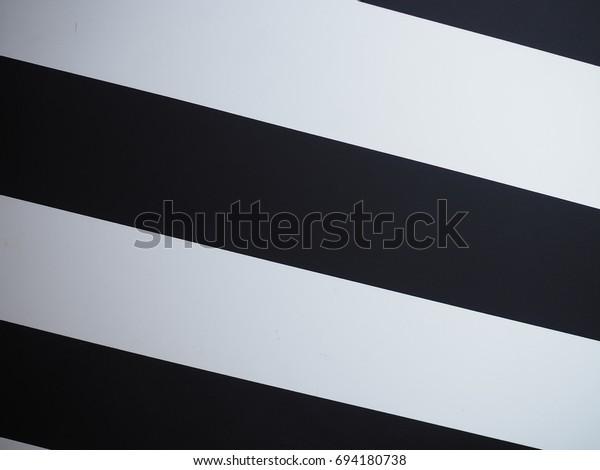 Big Black White Strip Wallpaper Interior Stock Photo Edit Now 694180738