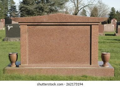 Big Blank Tombstone in a Cemetery