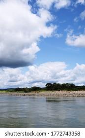 Big blue sky. Eai gawa river,Iwadeyama,Miyagi,Japan.