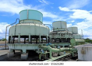 big Boiler for factory on blue sky