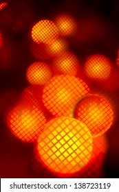 A big and bold, deep red, gold and yellow bokeh design for use as a highly dramatic backdrop.