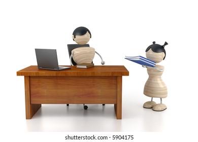 Big boss and secretary