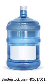 Big bottle of water with a blank sticker