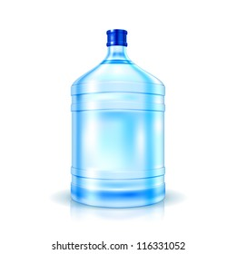 Big Bottle of Water for cooler isolated on white. Illustration