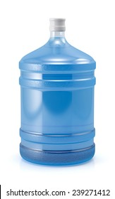 Big bottle of water for cooler isolated on a white background